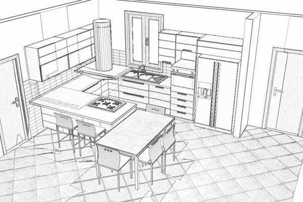 Progetti Cucine Con Isola. Fabulous Abitazione Post Operam With ...