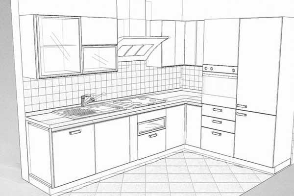 Progetto Cucina 3d. Excellent Cucina Con Isola E Tavolo Duinterni ...