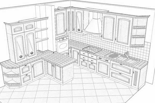 Progetto cucina rustica