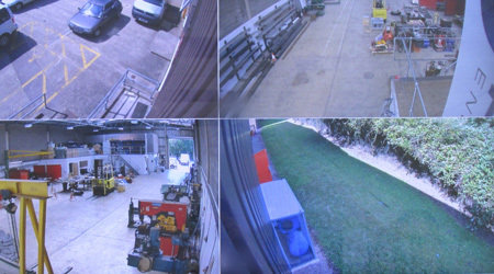 Four views from a CCTV camera