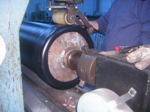 rivestimento rulli in gomma e silicone