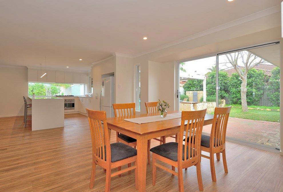 modern hardwood dining room