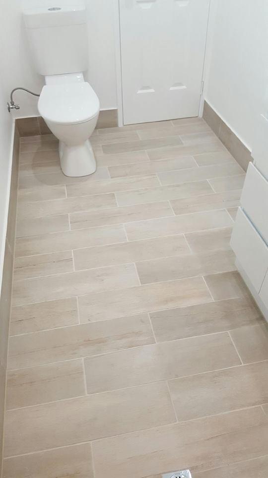 tile floor in a bathroom
