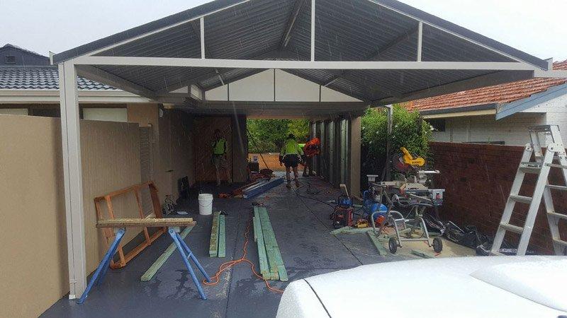 making the carport