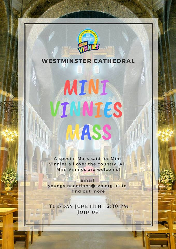 Mini Vinnies Mass at Westminster Cathedral