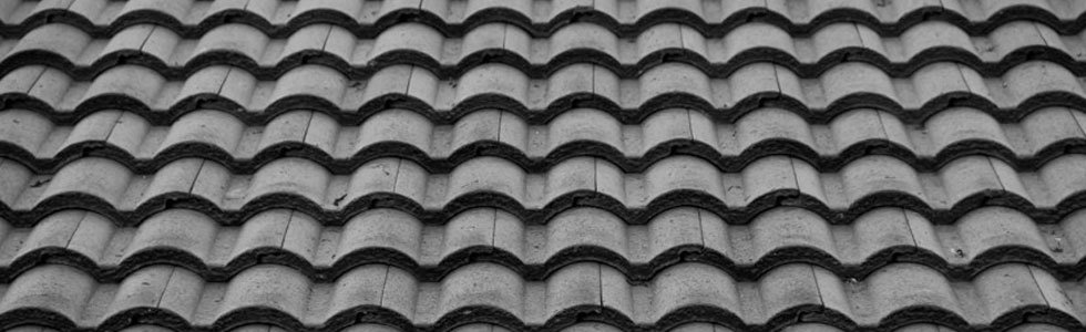 Black ceramic roof tiles