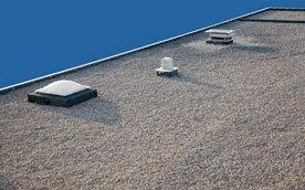Flat roof installations