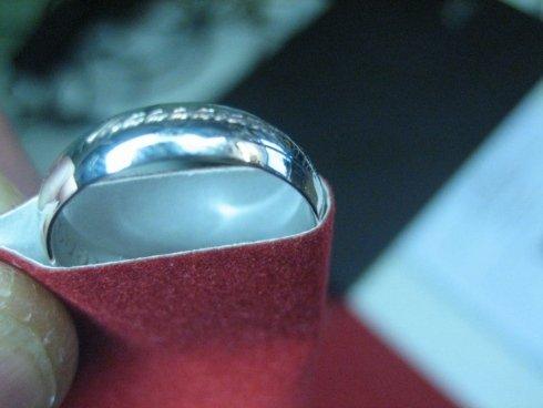 incisione su anelli