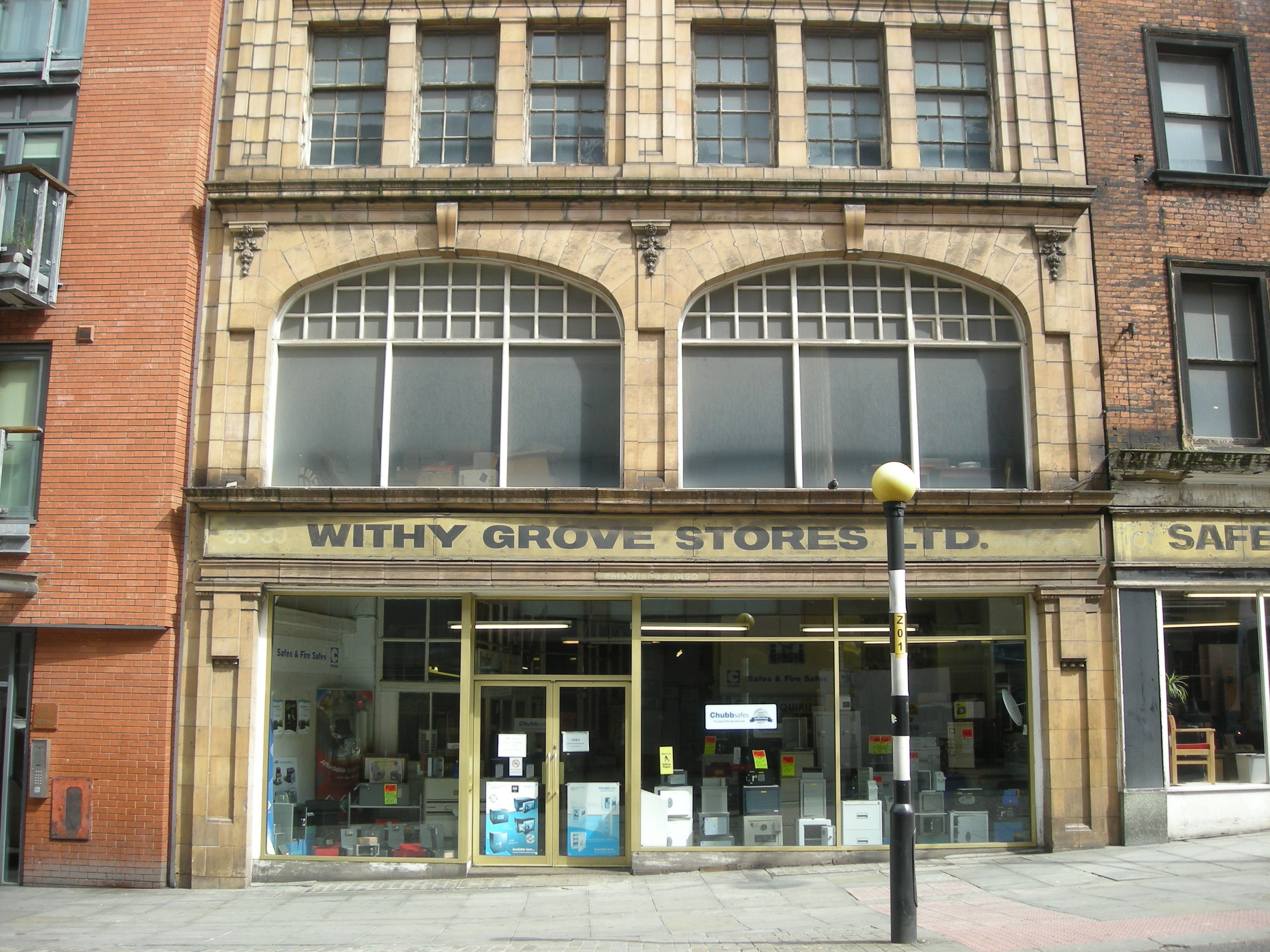 Withy Grove Stores Ltd, 35-39 Withy Grove, Manchester – established 1850