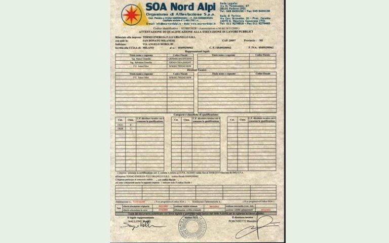 certificazioni savigliano