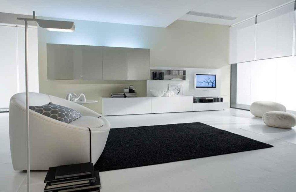 Progetto mobili soggiorno laccati