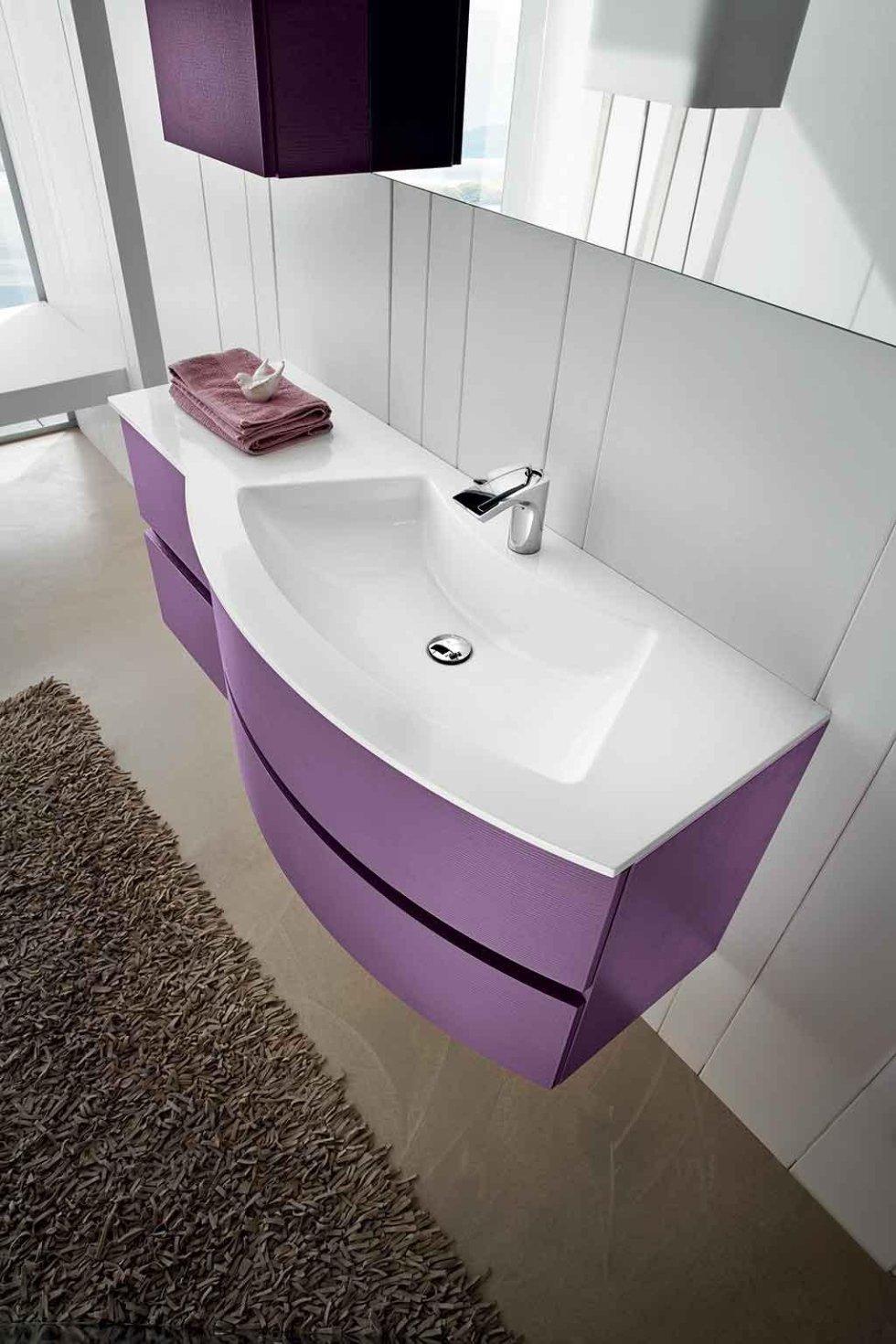 Progetto mobile bagno curvo
