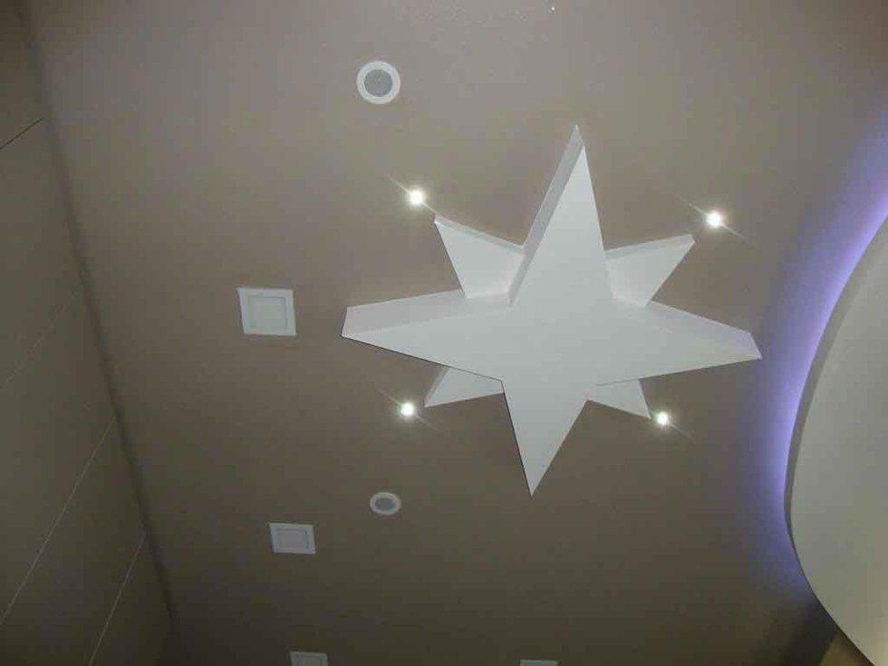 progetto controsoffitto con stella in cartongesso
