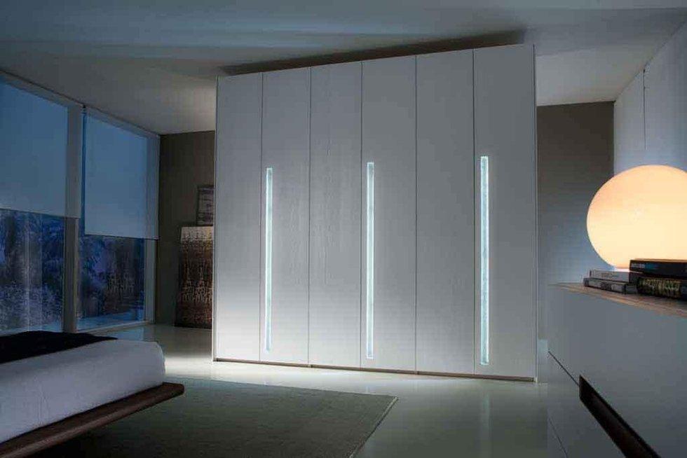 Progetto armadio con luci led