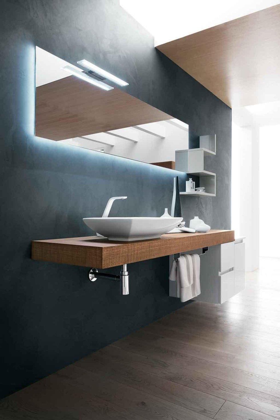 Progetto mobile bagno minimal
