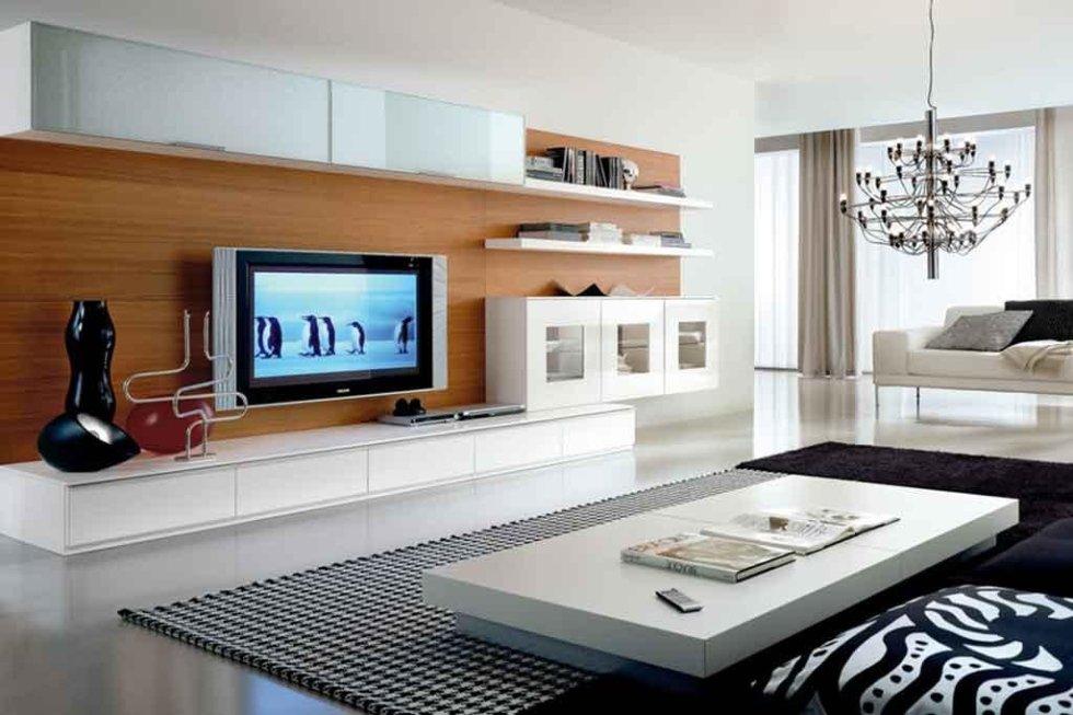 Progetto parete attrezzata per soggiorno