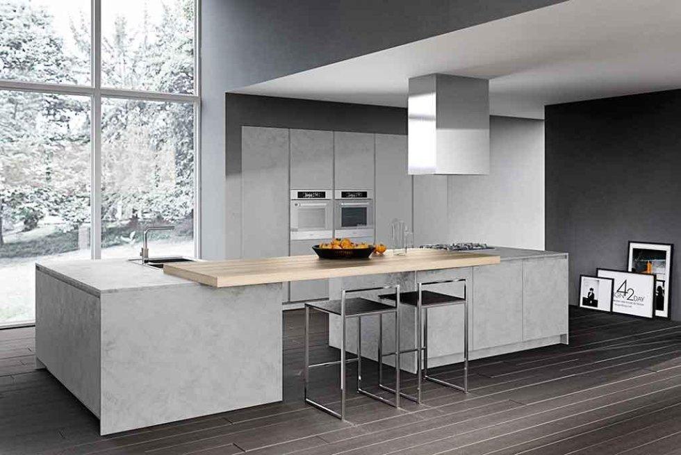 Progetto cucina in resina cemento