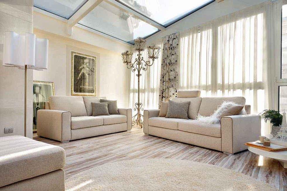 Progetto divani con tende coordinate