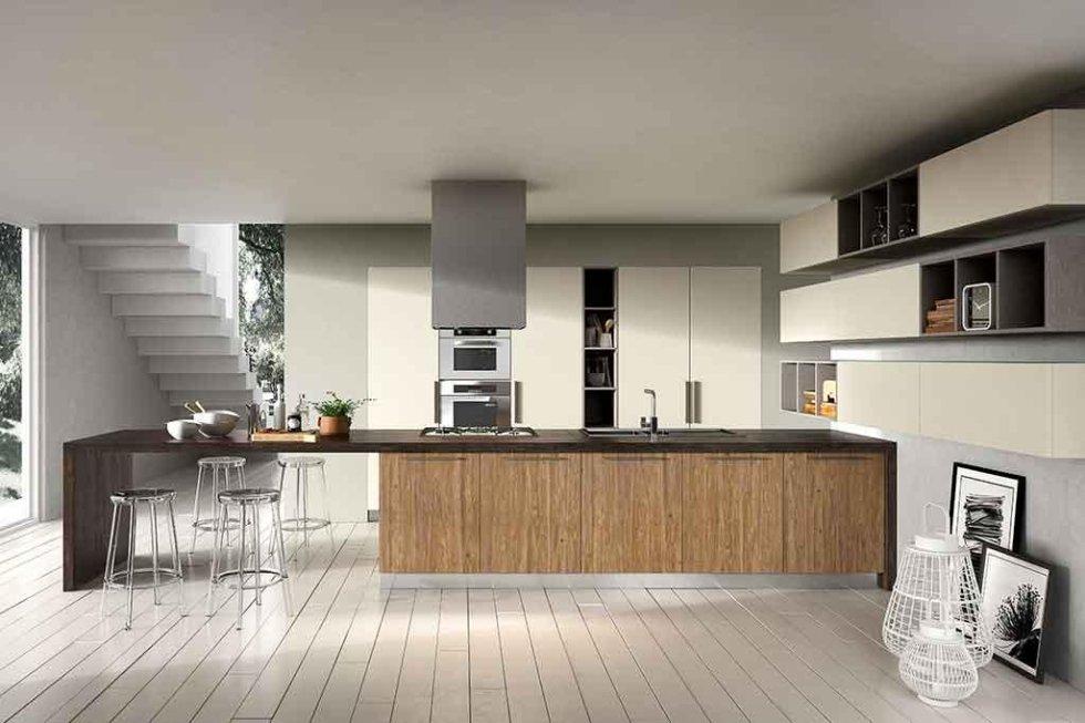 Progetto cucina in zona living