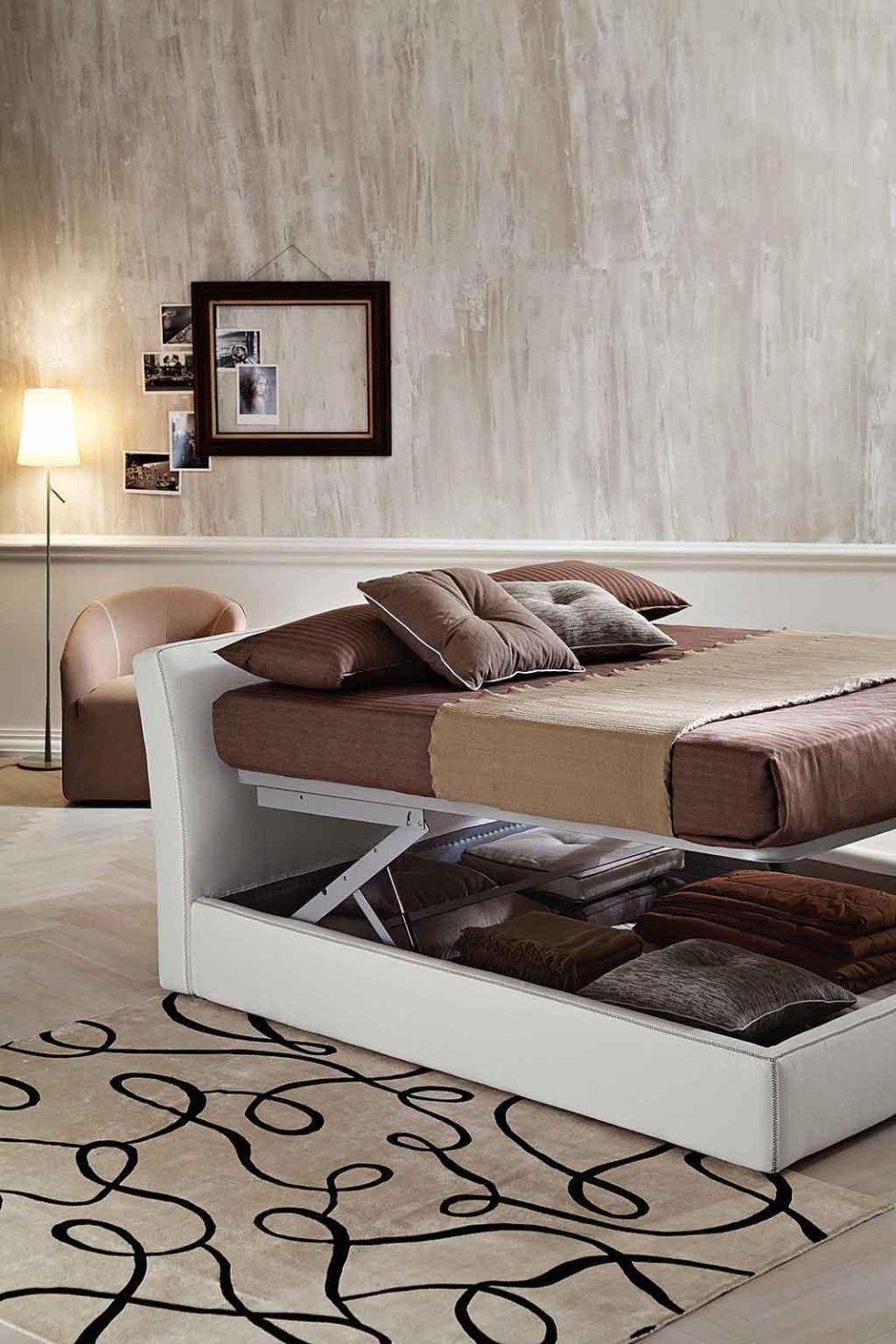 Progetto letto con contenitore comfort