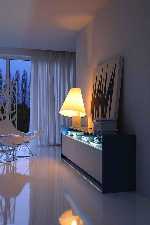 Progetto madia con illuminazione led