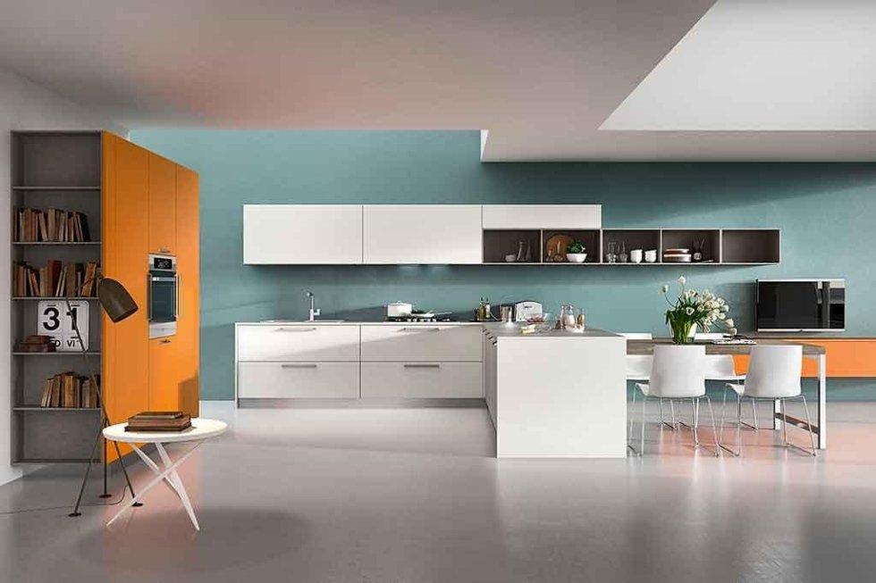 Progetto cucina open space
