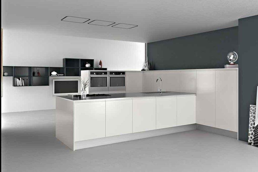 Progetto cucina senza maniglie
