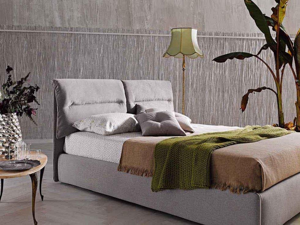 Progetto letto tessuto grigio sfoderabile