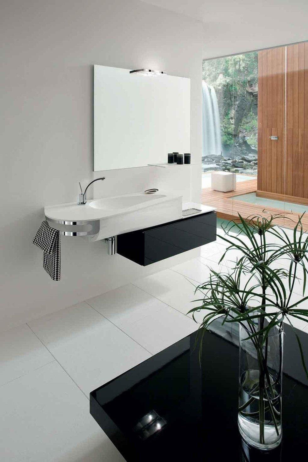 Progetto lavabo con porta asciugamano