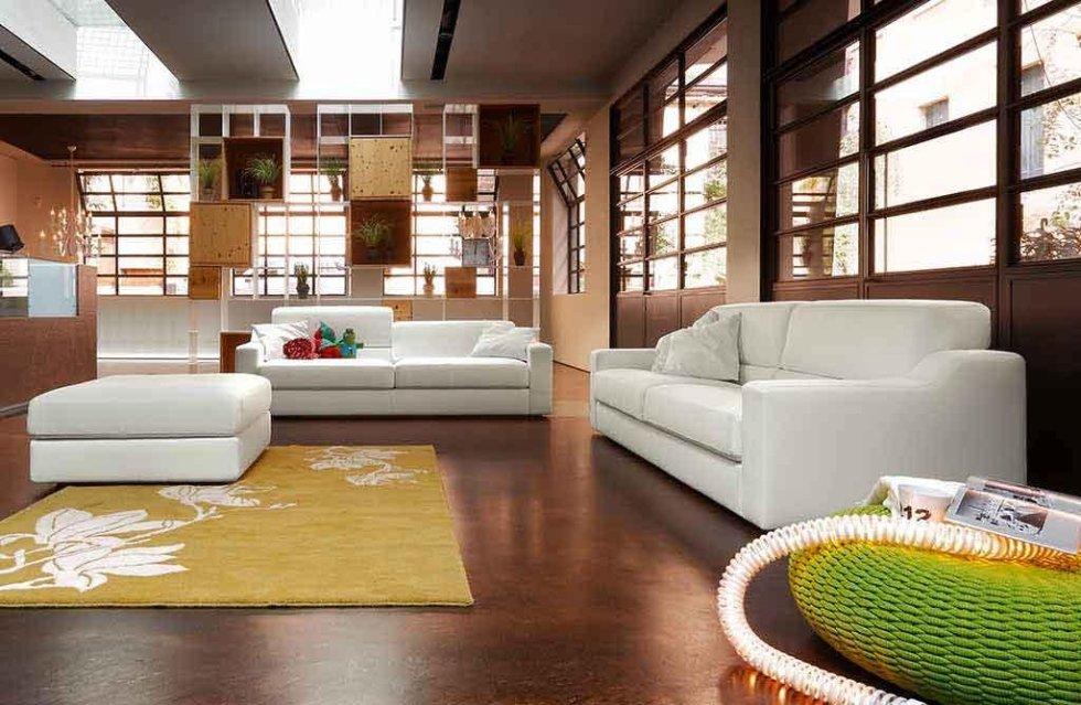 Progetto divani bianchi in open space