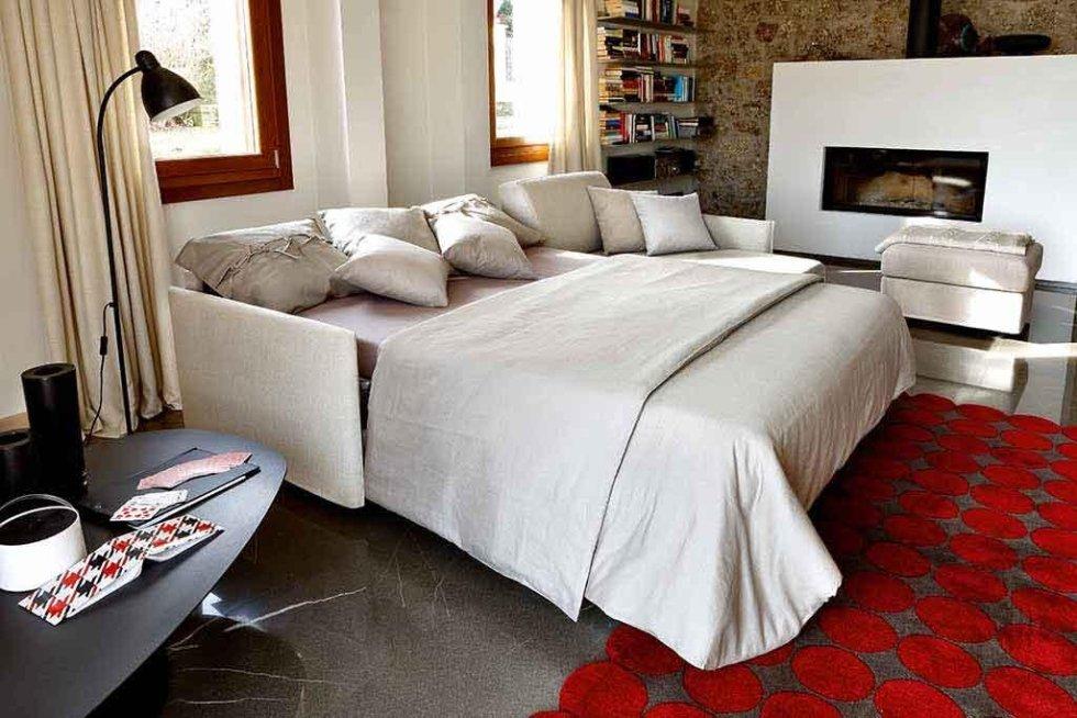 Progetto divano letto e pouff