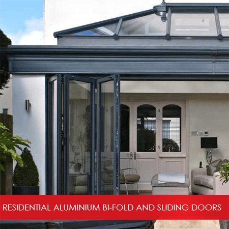home extension with bi-folding doors and roof light