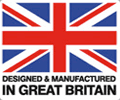 designed and manufactured in Great Britain