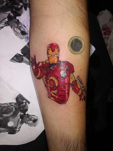 Tatuaggio Iron man