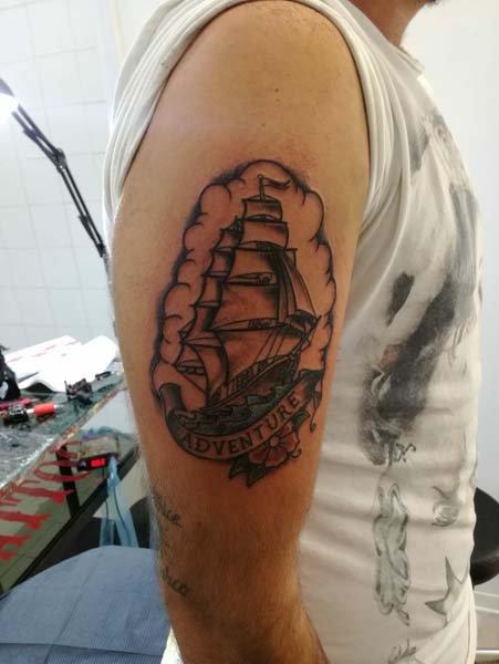 Tatuaggio galeone