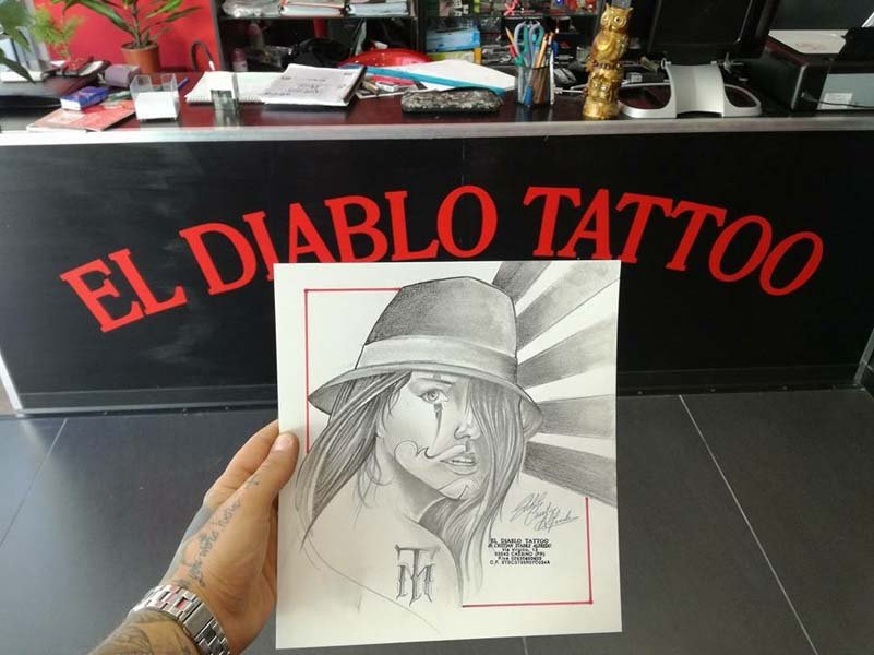 Tatuaggi disegno el diablo tattoo
