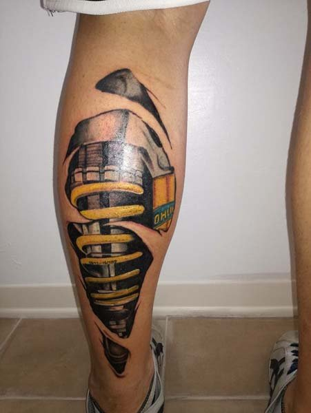 Tatuaggi sospensioni auto