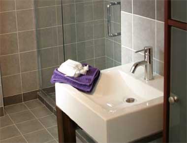 View of ceramic sink