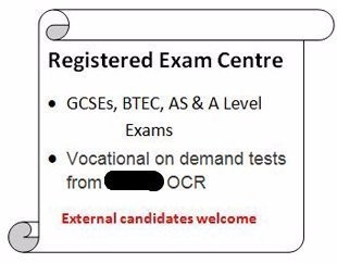 Registered Exam Centre