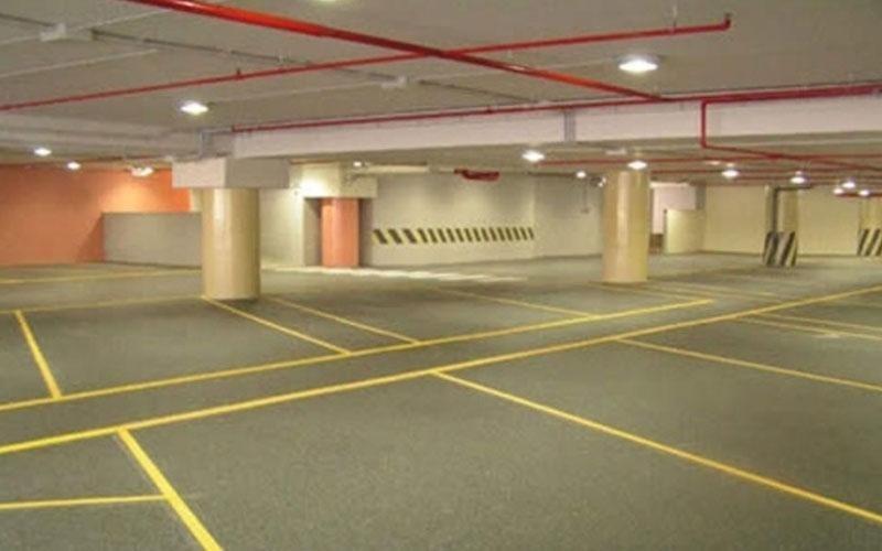 pavimento in resina parcheggio