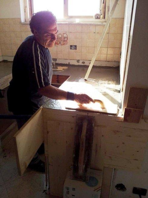 realizzazione piano cucina in muratura