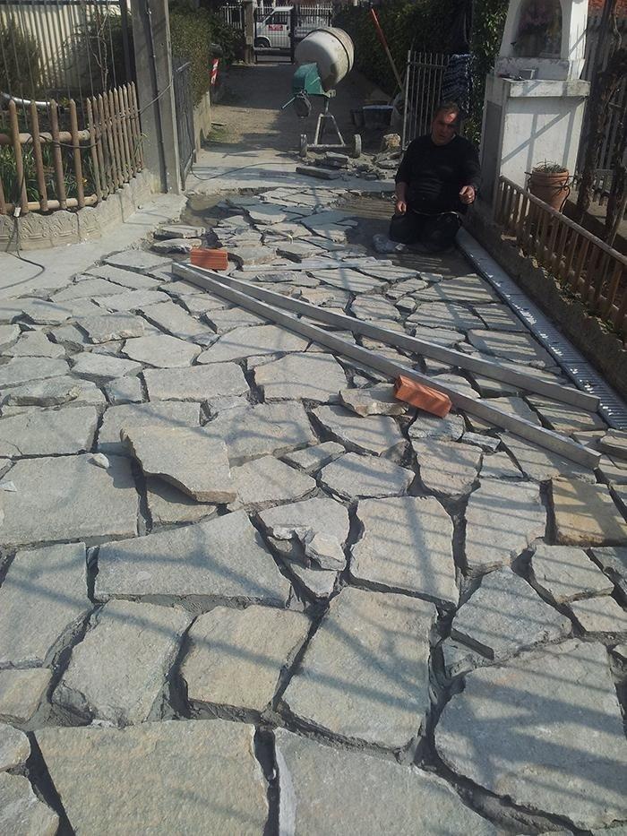rifacimento cortile e terrazzo