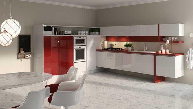 cucina rosso orientale