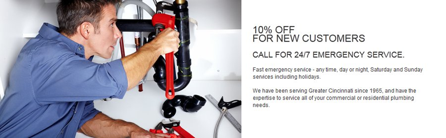 Residential or commercial plumber in Cincinnati, OH