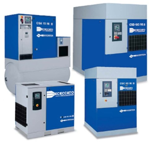 impianti di aspirazione, elettrocompressori, macchine per compressione aria