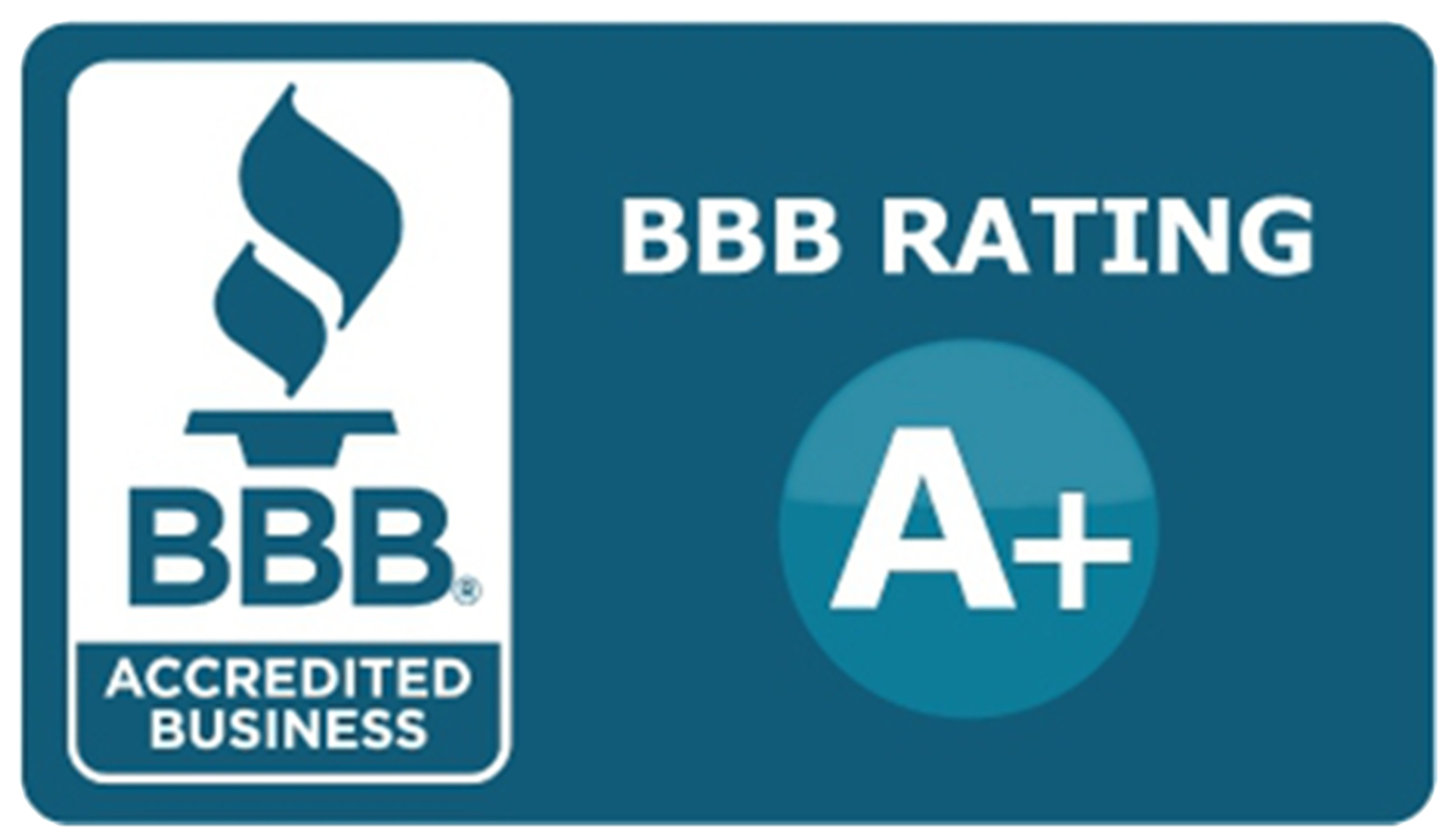 A+ Rating Better Business Bureau Badge