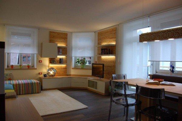 area living con cucina