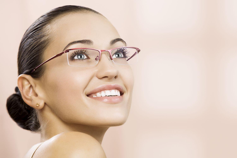 Female eyeglasses on display