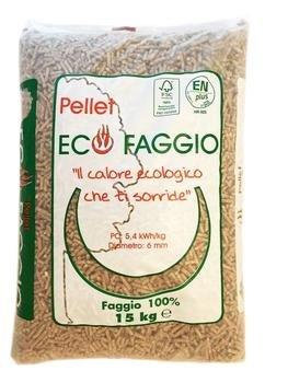 una busta di pellet ecologico