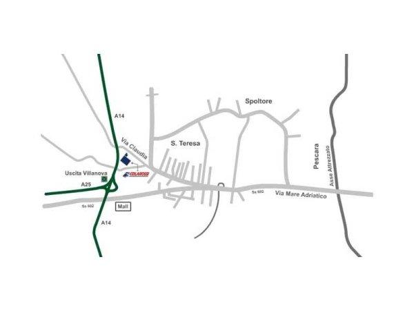 Mappa per raggiungere l'impresa di pulizia in provincia di Pescara